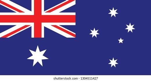 illustration of flat Australian flag