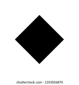 Illustration of the flat geometric shape called rhombus or lozenge belonging to the category of polygons.