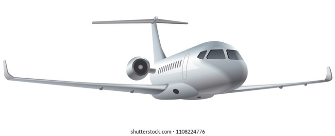 illustration of flying air private jet