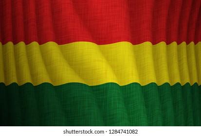 Illustration of a flying Bolivian flag