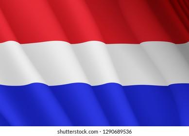 Illustration of a flying Dutch flag
