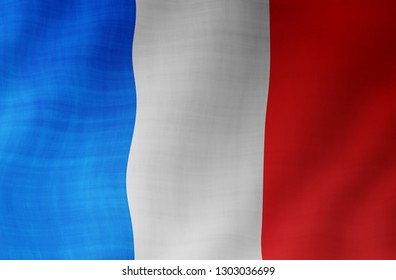 Illustration of a flying French flag