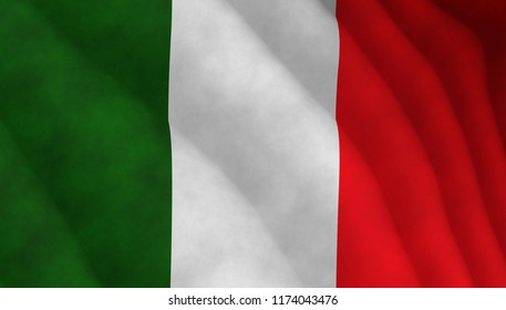 Illustration of a flying Italian flag