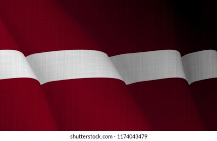 Illustration of a flying Latvian flag