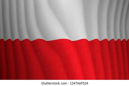 Illustration of a flying Polish flag
