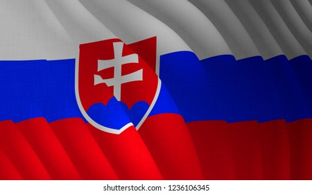 Illustration of a flying Slovakian flag