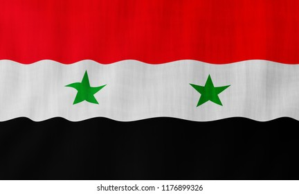 Illustration of a flying Syrian flag