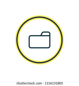 illustration of folder icon line. Beautiful storage element also can be used as dossier icon element.