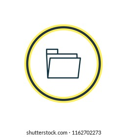 illustration of folder icon line. Beautiful stationery element also can be used as dossier icon element.