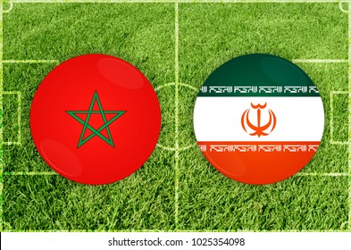 Illustration for Football match Marocco vs Iran