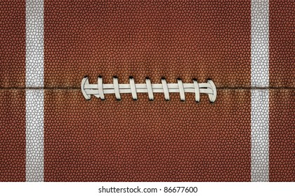 Illustration of football texture and laces to use it as a background for text or other graphics.