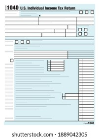 An illustration of the form used for the United States individual income tax returns.