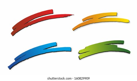 illustration of four different and colorful markers
