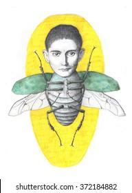 illustration of Franz Kafka