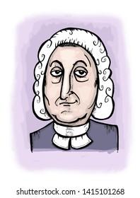Illustration of French writer Marquis de Sade.
