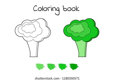 Game For Children Vegetable Coloring Page Broccoli