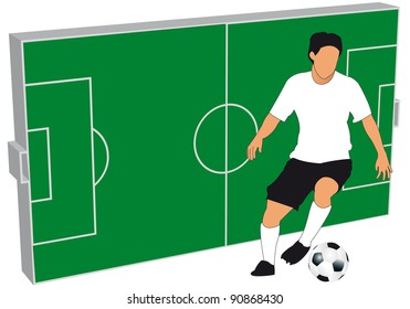 Illustration of the game of football