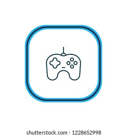 illustration of gamepad icon line. Beautiful device element also can be used as joypad icon element.