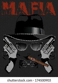 illustration of gangsters