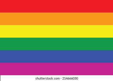 An Illustration of Gay flag or LGBT flag sign isolated. Gay culture symbol