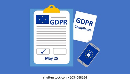 Illustration of GDPR (General Data Protection Regulation) Compliance