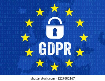 Illustration for GDPR General Data Protection Regulation DSGVO