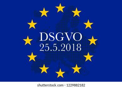 Illustration for GDPR General Data Protection Regulation DSGVO