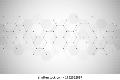 Illustration of geometric abstract background with hexagons pattern.