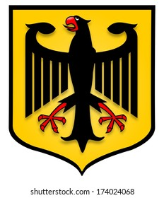 Illustration of the German coat of arms