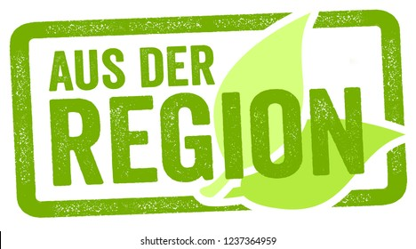 Illustration with the german words for regional food - aus der Region
