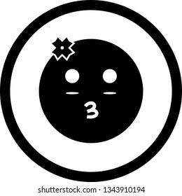 Vector Girl Emoji Icon Stock Vector (Royalty Free
