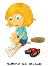 Putting On Shoes Images, Stock Photos & Vectors | Shutterstock