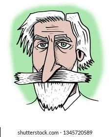 Illustration of Giuseppe Verdi.