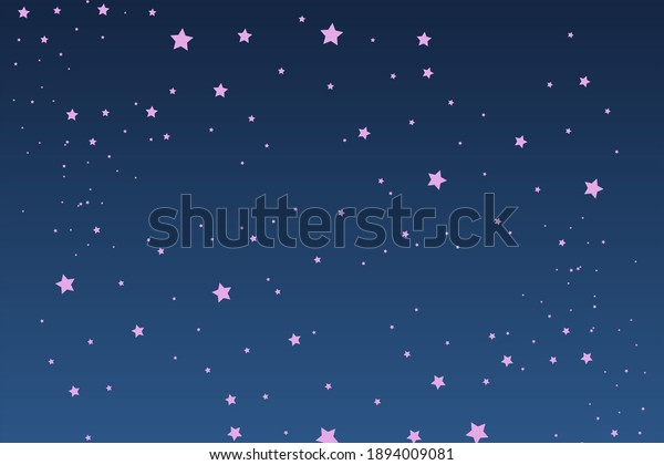 Illustration of gorgeous stars shining in the sky.