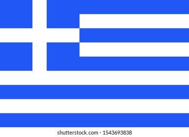 Illustration Greek flag close up