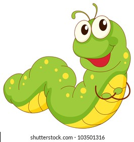 Illustration of a green caterpillar cartoon - EPS VECTOR format also available in my portfolio.