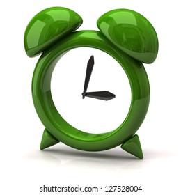 Illustration of green clock
