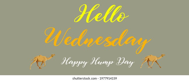 """illustration of the """"Happy Hump day"""" - Happy wednesday -"""