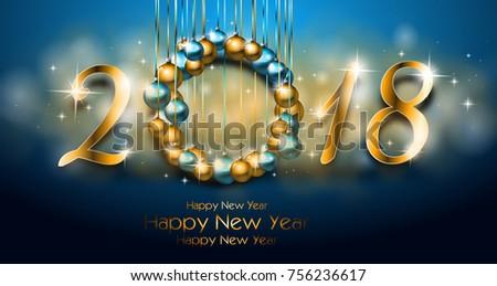 Illustration Happy New Year Greeting Card Stock Illustration ...