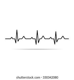Illustration heart rhythm ekg