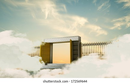 illustration of the heaven gate