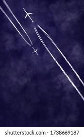 Illustration of High Level Jet Airliner