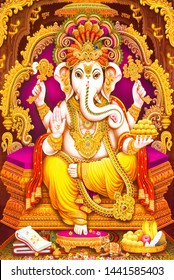 illustration of Hindu god lord Ganesha