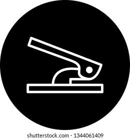 Illustration Hole Puncher Icon