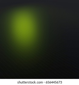 Illustration of honeycombs - green - 3d render
