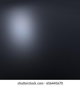 Illustration of honeycombs - grey blue - 3d render
