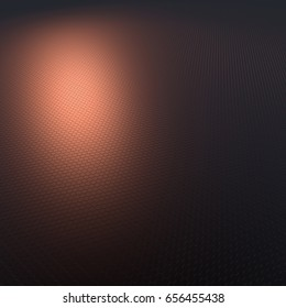 Illustration of honeycombs - red - 3d render