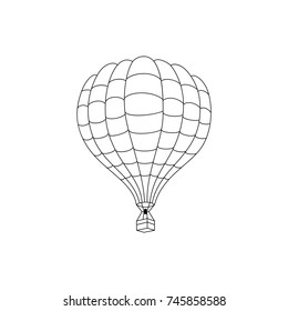 Illustration of hot air balloon outline drawn