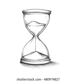 Illustration of an hourglass with sand