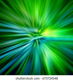 Illustration of  hyperspace motion. Concept of  intergalactic travel.Abstract digital  lens  flare special lighting effects on black background